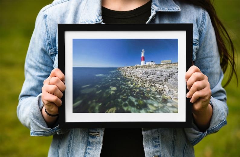 Dorset photography xmas christmas gifts architecture photos coastal fineart home decor Print  Canvas of Portland Bill Lighthouse wall art