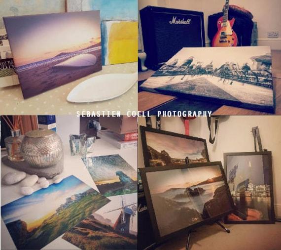 Canvas Happisburgh lighthouse in Norfolk landscape sunset photography uk Print