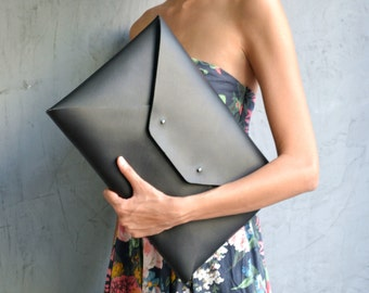 XL leather clutches