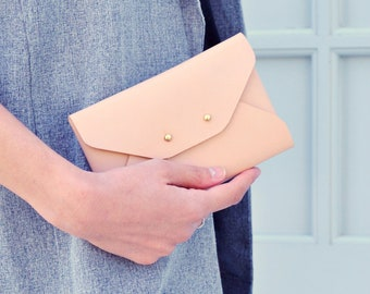 Mini leather clutches
