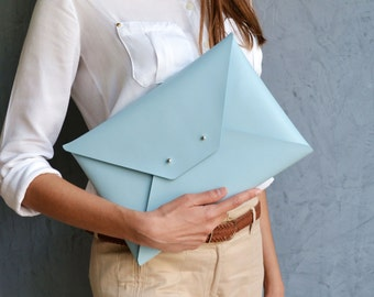 Large leather clutches