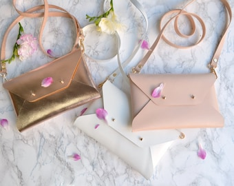 Bridesmaid gift set - Leather clutches - Set of 4-6 clutches