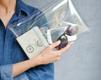 Clear clutch bag, PVC bag