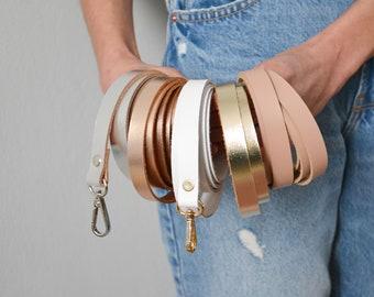 Leather shoulder strap / Removable shoulder strap / Shoulder strap for clutch / Leather crossbody strap / Christmas gift