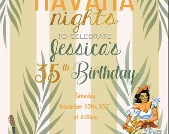 Cuban Invitation Etsy