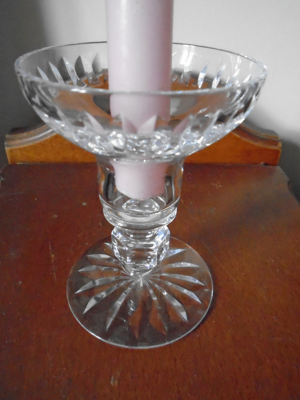 Vintage Glass Crystal Candle Holder Star Shaped Design Single Glass Candle Stick Crystal Candlestick