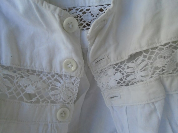 Antique French White Cotton Baby Christening Gown,