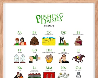 Printable Wall Art | Pushing Daisies digital Poster - A3 - 11x17 inches - Digital File - the piemaker thepiehole chuck and Ned