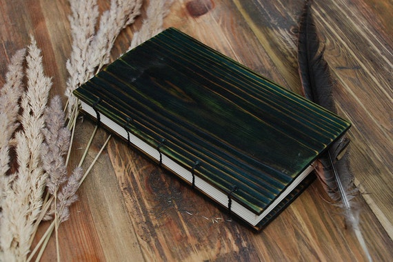 Brown Notepad Wooden Notebook Personalized wooden notebook wooden journal  wooden sketchbook