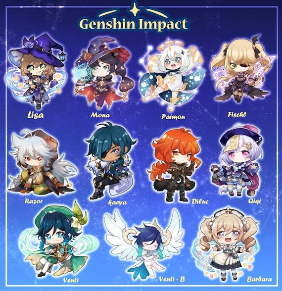 Genshin Impact Acrylic Charms