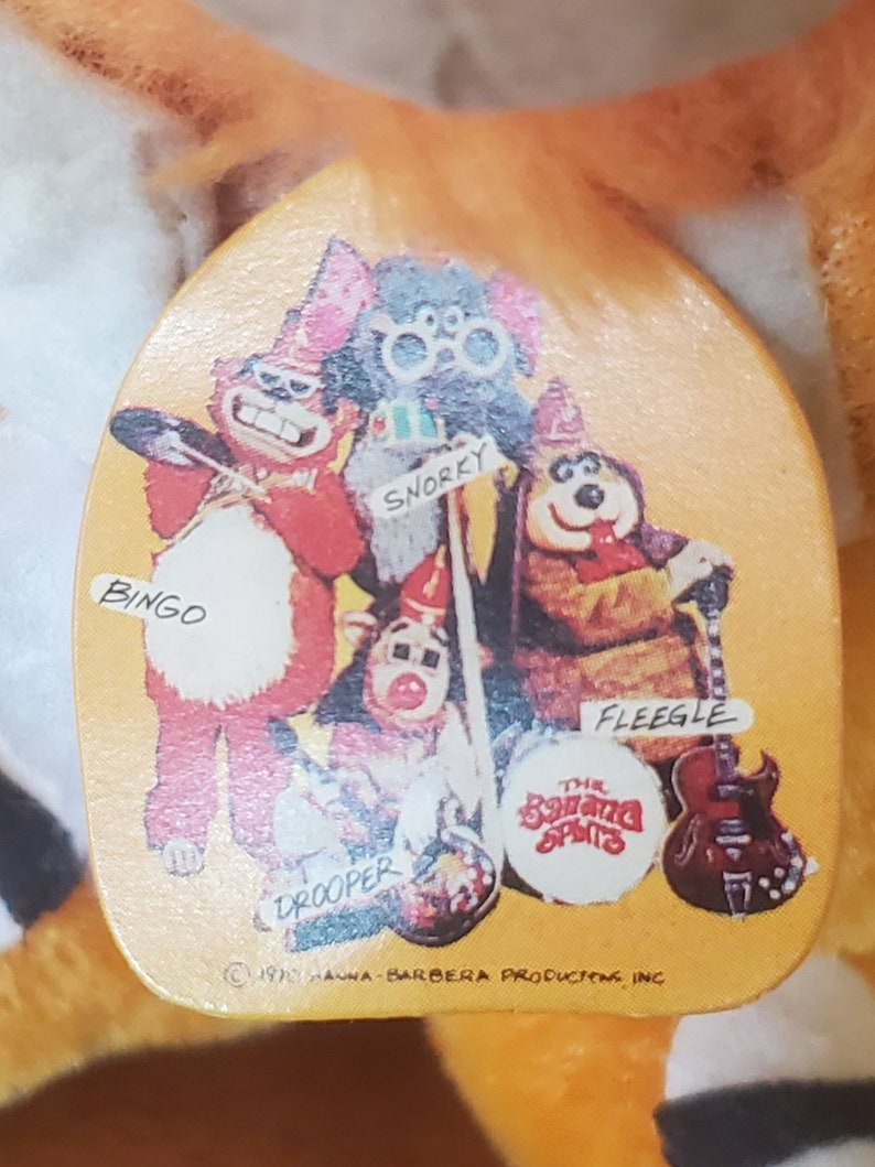 1970 Hanna-Barbera Production and Made in Japan S Sutton /& Sons Banana Splits 7 BINGO FigurineDoll Extremely Rare and Crazy Cool I