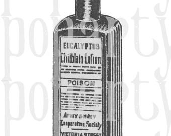 Vintage poison bottle digital download