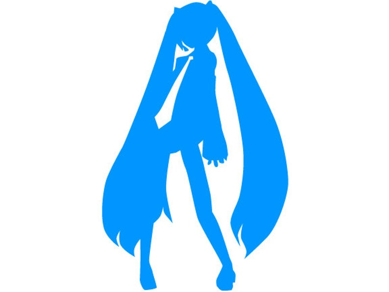 Vocaloid Hatsune Miku Digital Download Template Svg Ai Eps Jpg Png
