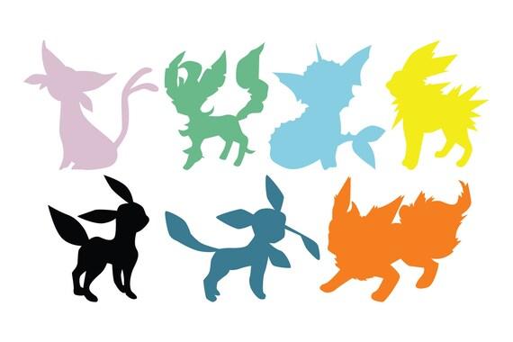 pokemon eevee evolution eeveelutions vaporeon flareon jolteon etsy