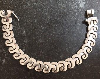 Salvador Garcia Jualler Taxco Mexico sterling bracelet