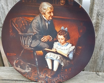 The Young Scholar Norman Rockwell plate, Rediscovered Women Series Collector Plate