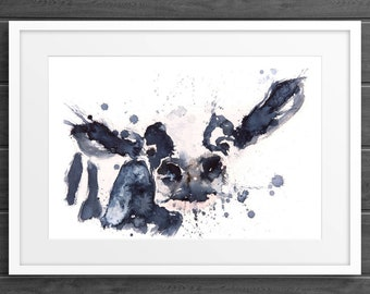 Cow Watercolor Watercolour Painting no.1 - Hand Signed limited Edition Print of my Original Painting - Cow Wall Art - Animal Art- Home Decor