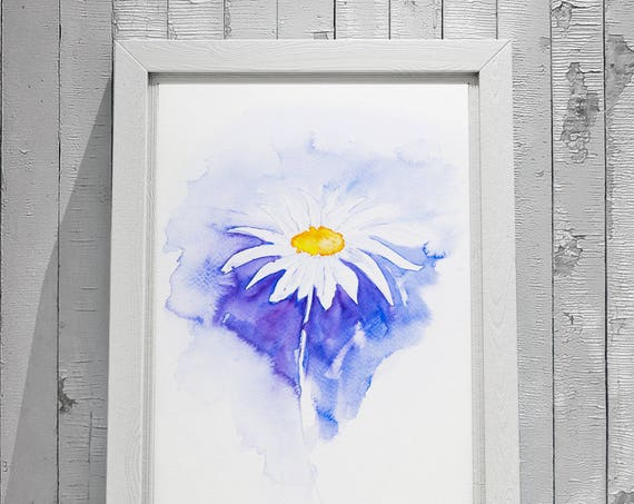 Simple Daisy No.1 - Signed limited Edition Print of my Original Watercolour Painting