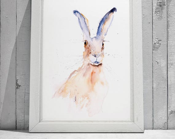 Mad As - Signed limited Edition Print of my original watercolour painting of a Hare