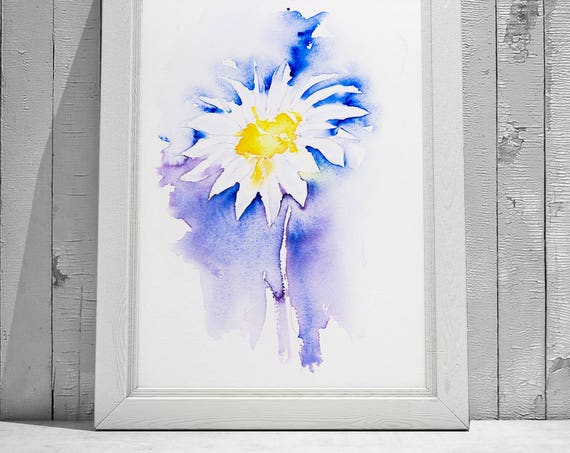 Simple Daisy No.2 - Signed limited Edition Print of my Original Watercolour Painting