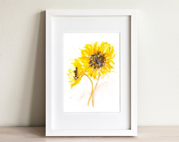 Sunflower Pair - Signed limited Edition Print of my Original Watercolour Painting