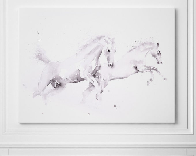 Horse Canvas Print Wall Art Horse Watercolour Painting of my Original Abstract Horse Painting Large Horse Watercolour Art