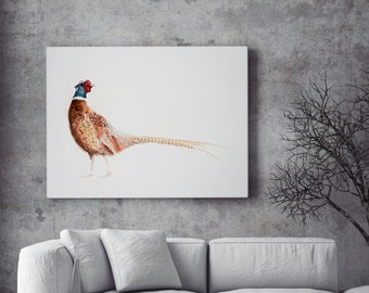 Pheasant Canvas print - Hand signed Abstract Canvas Print Pheasant