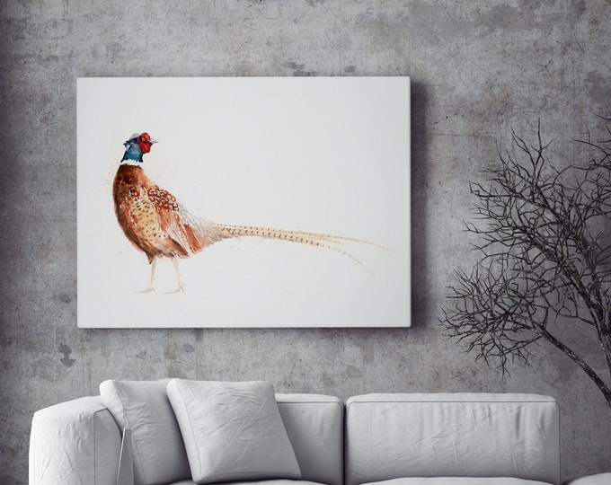 Pheasant Canvas print - Hand signed Abstract Canvas Print Pheasant