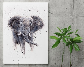 Elephant Painting - Elephant Watercolour - Hand Signed Dated and Numbered Limited Edition Print of my Original Watercolour Elephant Painting