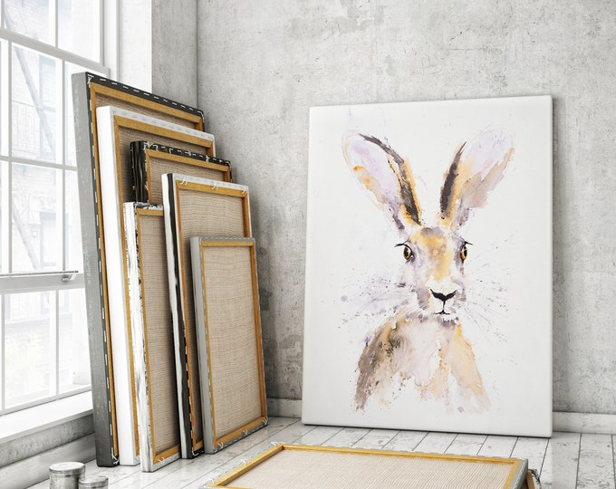 Hermione Hare Canvas Print - Hand Signed Hare Wall Art