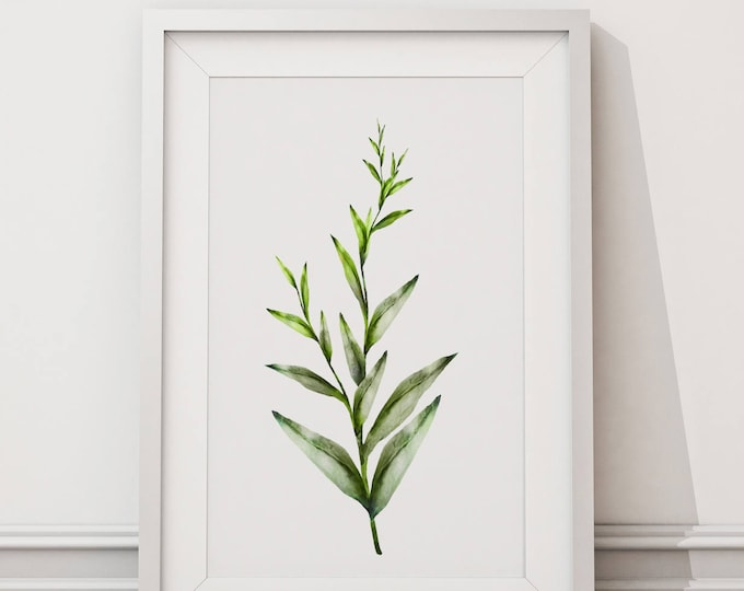 Botanical Leaf Print No.6 on Watercolour Paper - Fine Art Print of a Leaf Watercolour Painting