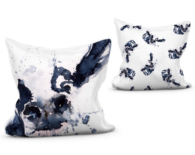 Cow Scatter Cushion Vibrant Animal Print Pillow with Double Sided Design