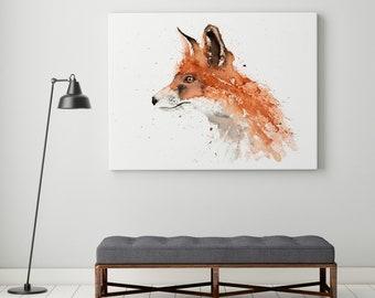 Fox Canvas print - Hand signed Abstract Canvas Print Fox