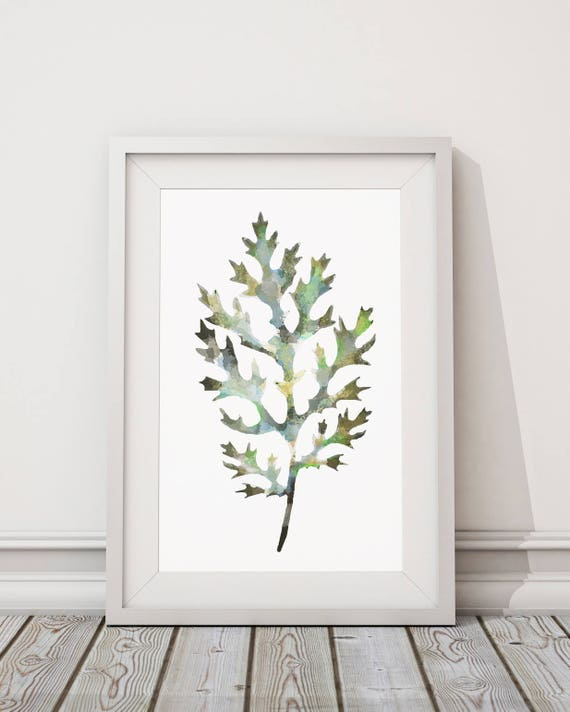 Botanical Leaf Print No.4 on Watercolour Paper - Fine Art Print of a Leaf Watercolour Painting