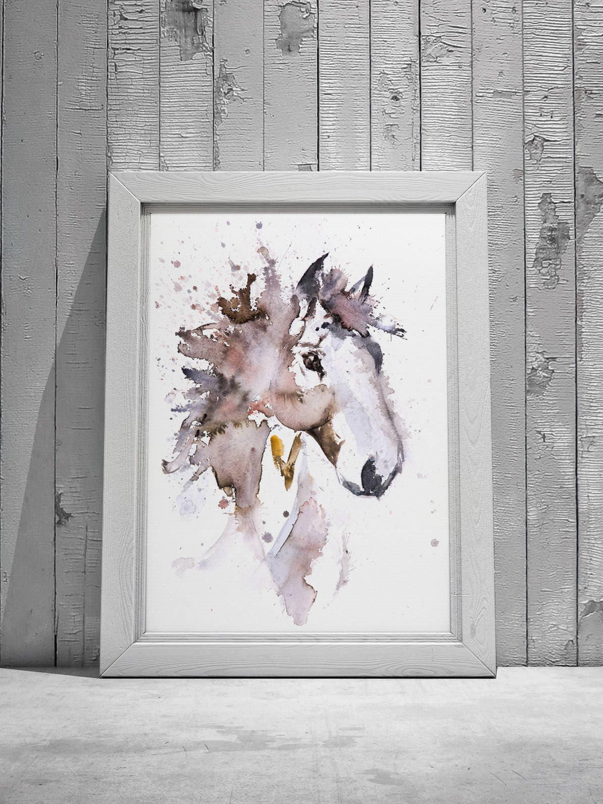 Horse Watercolor Painting Watercolour Wall Art No 3 Signed Limited Edition Print Of My Original Watercolor Horse Painting