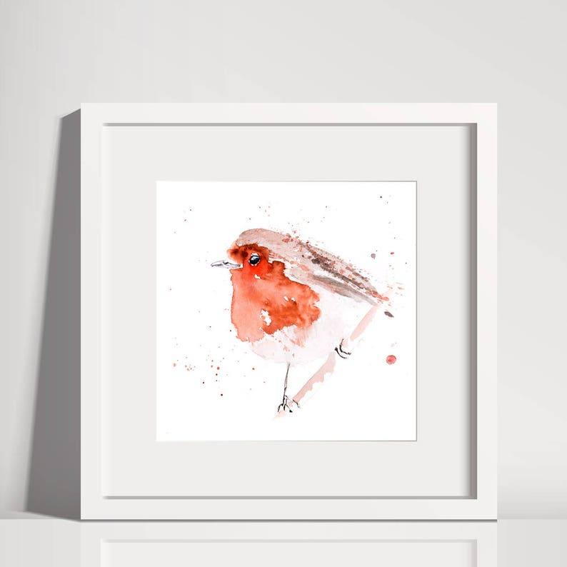 c97e234c144f4 Fat Robin Red Breast No.3 Hand Signed limited edition Print   Etsy