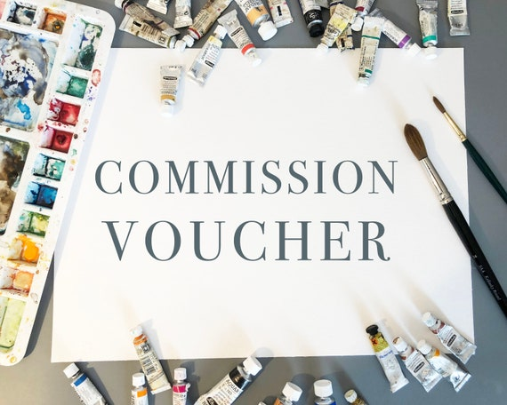 Bespoke Watercolour Animal Portrait Painting Commission Voucher. An Original Watercolour Painting from a Photo of your Pet or Chosen Animal
