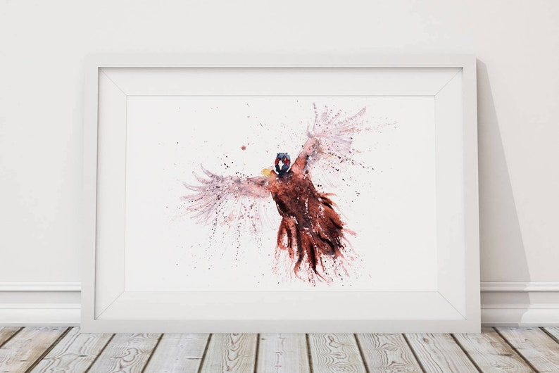 Pheasant Watercolour Painting  Hand Signed Limited Edition image 0