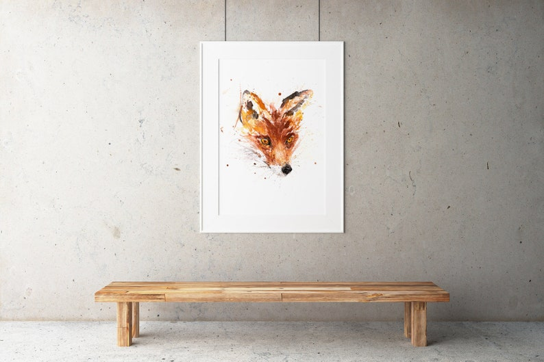 Fox Watercolour Painting  Fox Painting  Hand Signed Numbered image 0