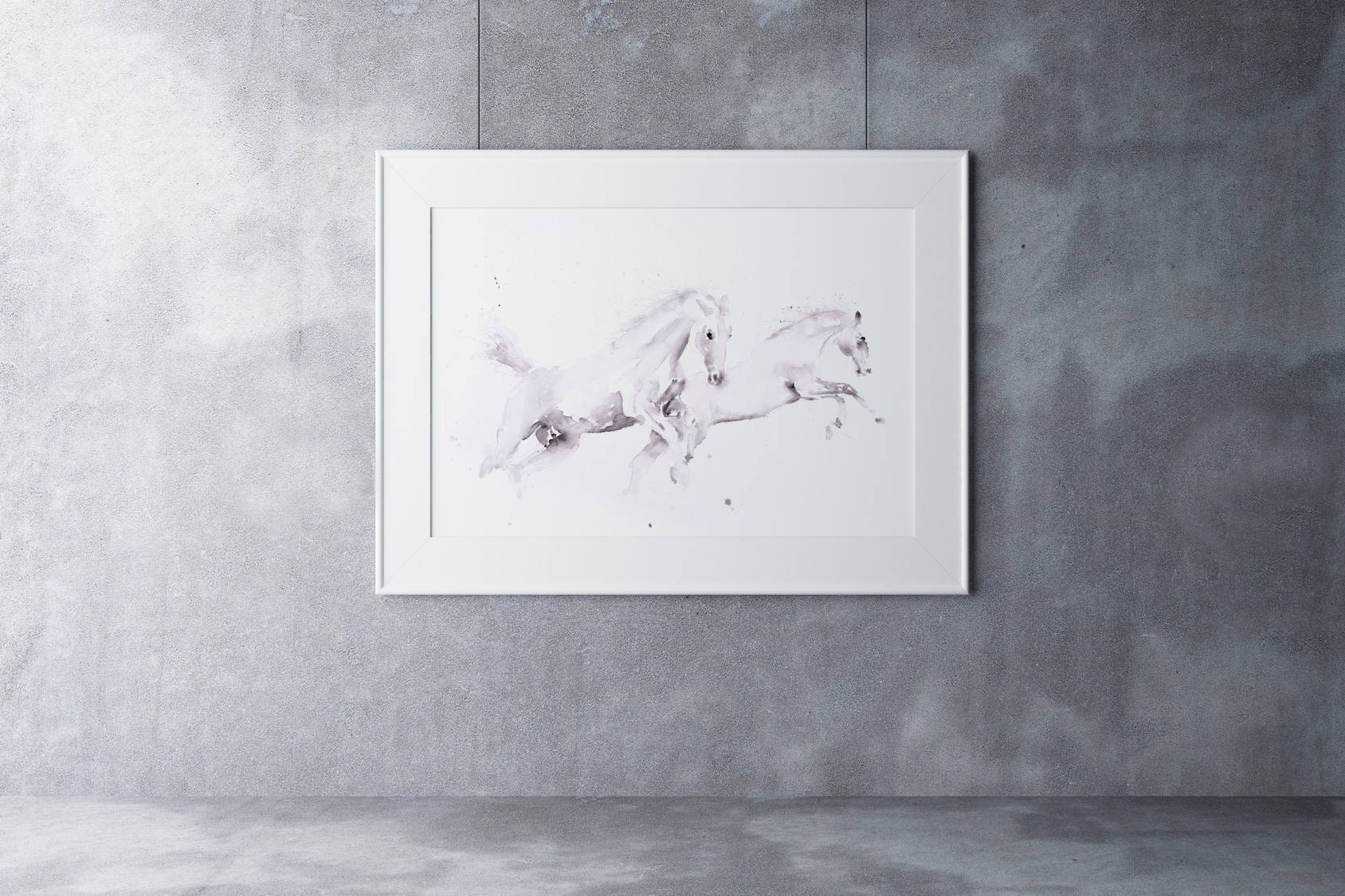 White Horse Watercolor Watercolour Painting Wall Art Hand Signed Dated Numbered And Embossed Limited Edition Print Of My Horse Painting