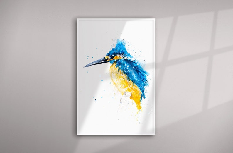 Kingfisher Watercolour Living Room Art Limited Edition Hand Signed Print of my Original Kingfisher Watercolor Painting Kingfisher Painting