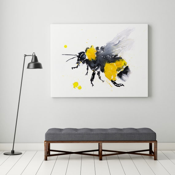 Bumble Bee print abstract painting limited edition signed
