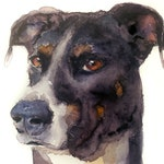 Custom Hand-painted Watercolor Rescue Dog Portrait from Photo, Custom Pet Painting, Original Painting of your Pet, Custom Pet Portrait