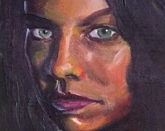 Maggie | Archival Print Portrait of Lauren Cohan from Walking Dead by Jess Kristen