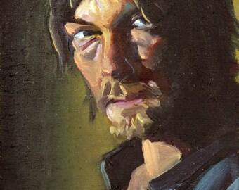 Daryl | Archival Print Portrait of Norman Reedus from Walking Dead by Jess Kristen