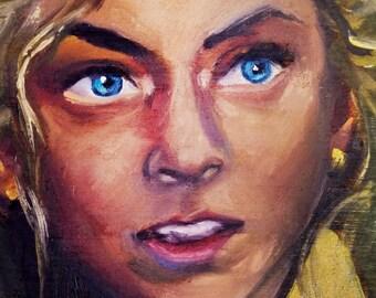 Beth | Archival Print Portrait of Emily Kinney from Walking Dead by Jess Kristen