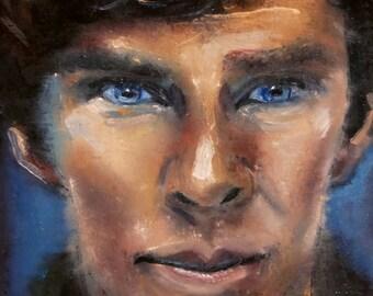Sherlock | Oil Painting Portrait Benedict Cumberbatch Sherlock Holmes Fan Art