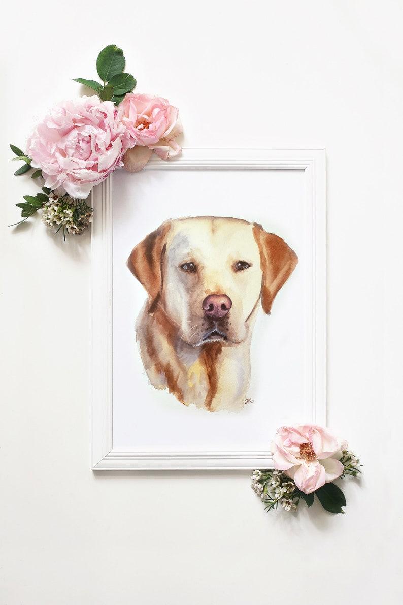 Pet Portrait Custom Dog Portrait Watercolor Pet Portrait Dog image 0