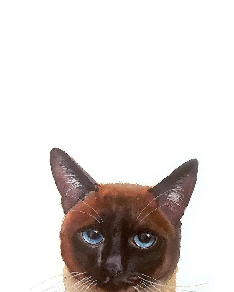 Custom PEAKABOO Cat Pet Portrait Dog Portrait Pet Painting image 0
