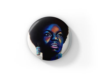"""Individual Nina Simone by Jess Kristen Button Pins or Magnets 1"""""""